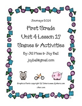 Journeys 2014/2017 First Grade Unit 4 Bundle