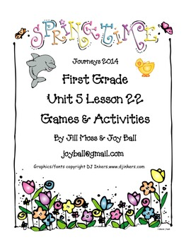 Journeys 2014/2017 First Grade Unit 5 Lesson 22: Amazing Animals