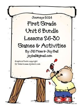 Journeys 2014 First Grade Unit 6 Bundle
