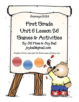 Journeys 2014 First Grade Unit 6 Lesson 26: The Dot