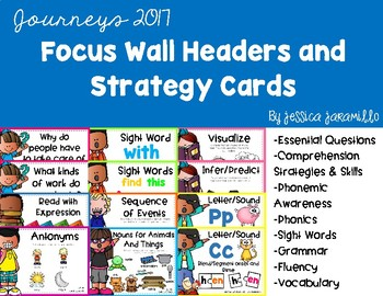 Journeys 2017 Focus Wall and Strategy Cards