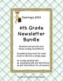 Journeys Fourth Grade, Weekly Newsletters BUNDLE