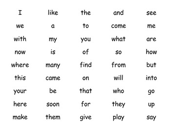 Journeys 2014 Kinder Sight word Checklist