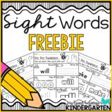 Sight Word Printables FREEBIE