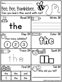 Sight word printables sight word practice freebie tpt sight word printables sight word practice freebie ibookread ePUb