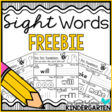 Sight Word Worksheets - Sight Word Practice FREEBIE