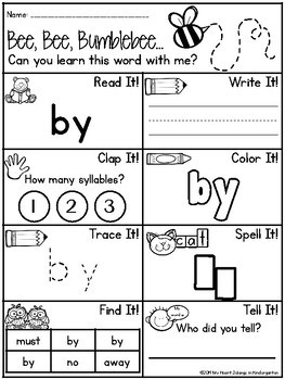 Journey into Reading {88 Sight Word Printables}