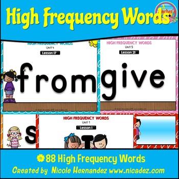Journeys Houghton Mifflin Kindergarten High Frequency Words