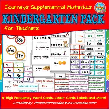 Journeys Supplemental Material - Kindergarten Resource Pack for Teachers