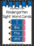 Journeys 2014 Kindergarten Sight Word Cards- Blue