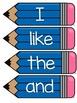 Journeys 2014 Kindergarten Sight Word Cards- Blue