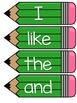 Journeys 2014 Kindergarten Sight Word Cards- Green