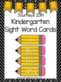Journeys 2014 Kindergarten Sight Word Cards- Yellow