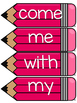 Journeys 2014 Kindergarten Sight Word Cards- Pink