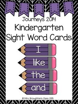 Journeys 2014 Kindergarten Sight Word Cards- Purple