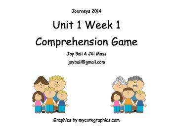 Journeys 2014 Kindergarten Unit 1 Building With Dad Gameboard
