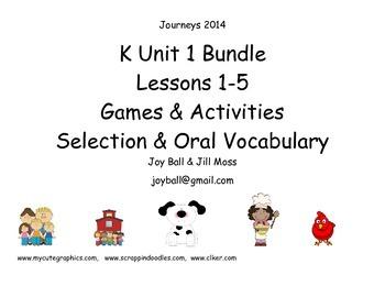 Journeys 2014/2017 Kindergarten Unit 1 Bundle