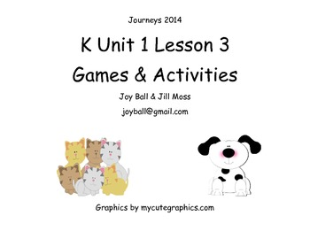 Journeys 2014 Kindergarten Unit 1 Lesson 3: Please, Puppy, Please