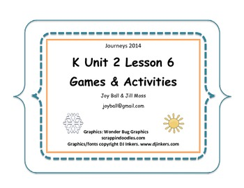 Journeys 2014/2017 Kindergarten Unit 2 Lesson 6: My Five Senses