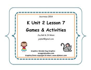 Journeys 2014 Kindergarten Unit 2 Lesson 7: Mice Squeak, We Speak