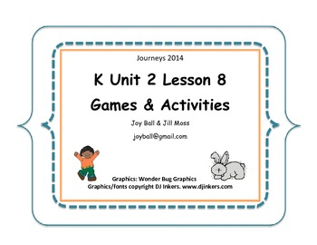 Journeys 2014 Kindergarten Unit 2 Lesson 8: Move!