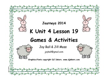 Journeys 2014/2017 Kindergarten Unit 4 Lesson 19: Sheep Take a Hike