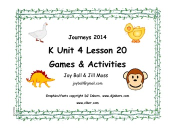 Journeys 2014/2017 Kindergarten Unit 4 Lesson 20: Curious George's Dinosaur ...