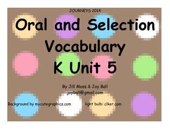 Journeys 2014/2017 Kindergarten Unit 5 Bundle