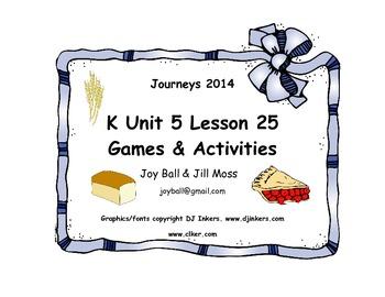 Journeys 2014/2017 Kindergarten Unit 5 Lesson 25: Pie in the Sky