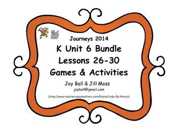 Journeys 2014/2017 Kindergarten Unit 6 Bundle