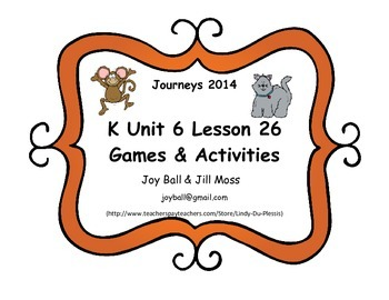 Journeys 2014/2017 Kindergarten Unit 6 Lesson 26: Kitten's First Full Moon