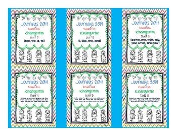 Journeys 2014 Kindergarten Units 1-6 Resource Pack Bundle