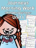 Journeys 2014 Morning Work - Kindergarten - Unit 1