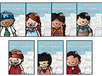 Journeys 2014 Morning Work - Kindergarten - Unit 1-6