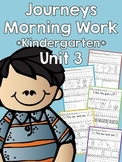Journeys 2014 Morning Work - Kindergarten - Unit 3