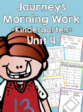 Journeys 2014 Morning Work - Kindergarten - Unit 4