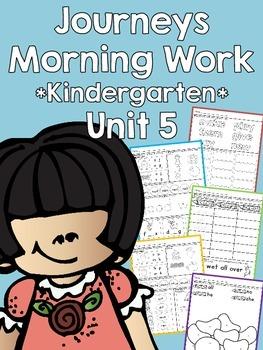 Journeys 2014 Morning Work - Kindergarten - Unit 5