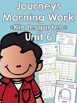Journeys 2014 Morning Work - Kindergarten - Unit 6