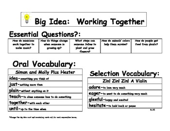 Journeys 2014/2017 Oral and Selection Vocabulary Kindergarten Unit 5