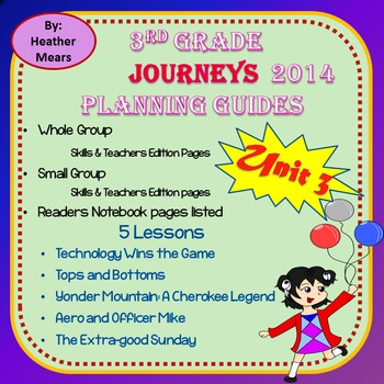 Journeys Planning Guide Unit 3 3rd Grade