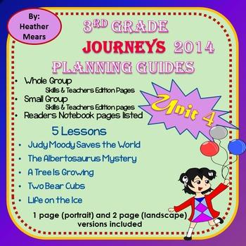 Journeys Planning Guide Unit 4 3rd Grade