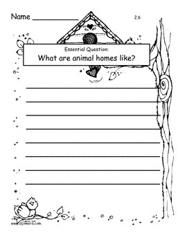 Journeys 2014/2017 Second Grade Unit 2 Lesson 6: Animals Building Homes