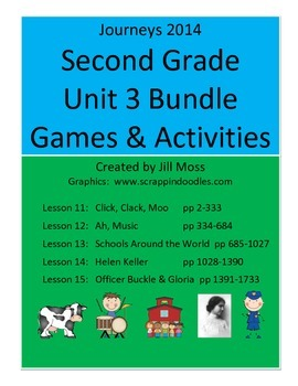 Journeys 2014 Second Grade Unit 3 Bundle