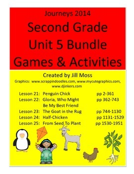 Journeys 2014/2017 Second Grade Unit 5 Bundle