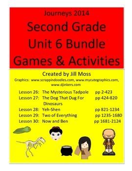 Journeys 2014 Second Grade Unit 6 Bundle