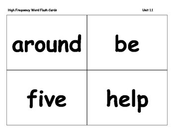Journeys 2014/2017 Second Grade Vocabulary Cards For Lessons 1-30