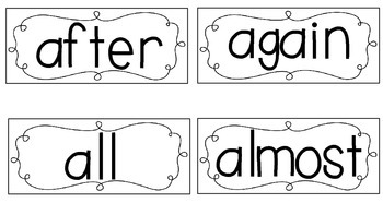 Journeys 2014 Sight Word Cards - First Grade