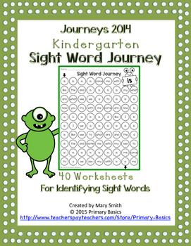 Journeys 2014 Kindergarten Sight Word Journey