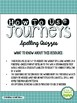 Journeys Third Grade Unit 4 Spelling Quizzes and Sentence