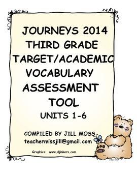 Journeys 2014 Third Grade Target/Academic Vocabulary Asses